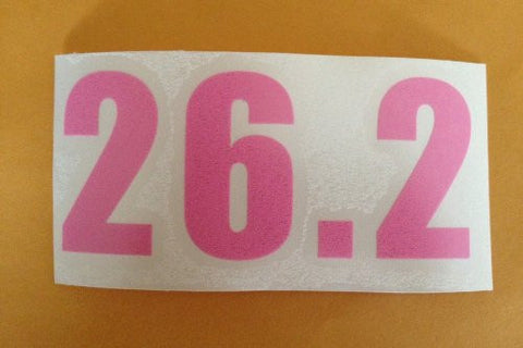26.2 WINDOW CLING (Pink Numbers) (Set of 4)