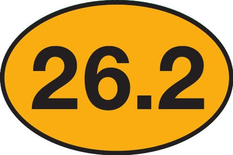 26.2 Marathon Gold Sticker (Set of 4)