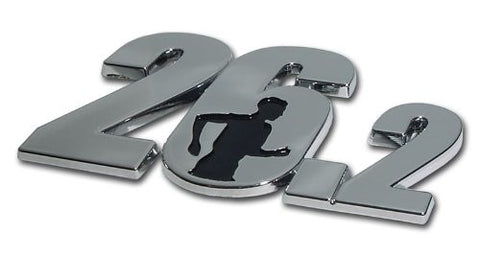 Elektroplate 26.2 Chrome Auto Emblem (3D with Male runner)