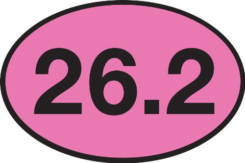 26.2 PINK Oval Sticker (Set of 4)