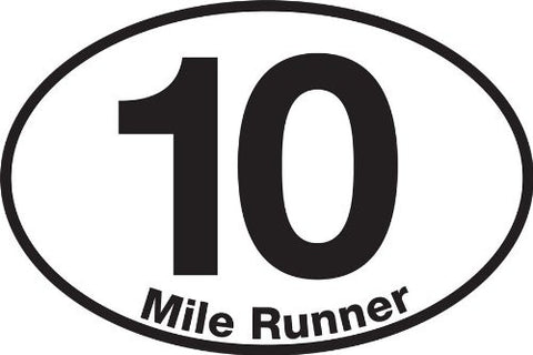 10 Mile Runner Sticker (Set of 4)