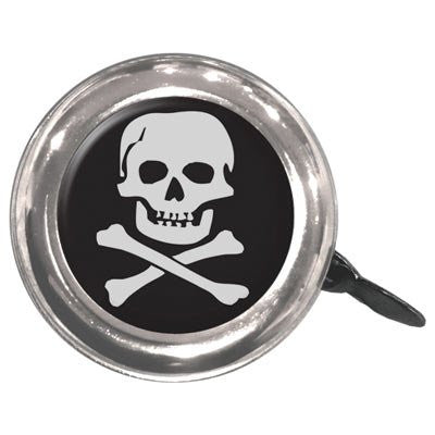 Swell Bell Bicycle Bell - Black with White Skull