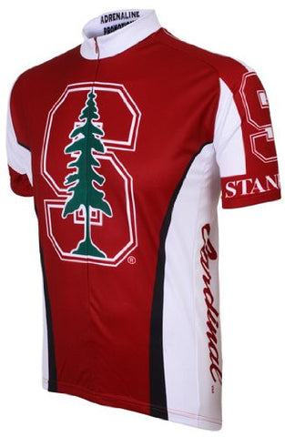 NCAA Men's Adrenaline Promotions Stanford Cycling Jersey, Red