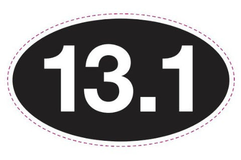13.1 BLACK Oval Sticker (set of 4)