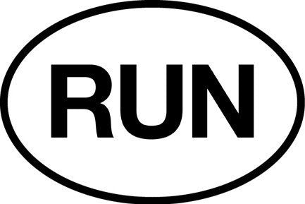 RUN Sticker (Set of 4)