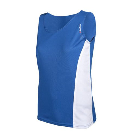 RaceReady Women's RaceDay Track Running Singlet, Royal/White