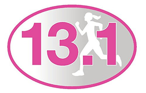 13.1 Pink Runner Girl Sticker (Set of 4)