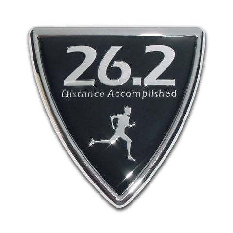 Elektroplate 26.2 Shield Chrome Auto Emblem (with Male runner; Marathon)
