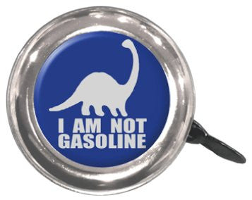"Clean Motion Swell Bell - Series 1 - Dino ""I AM NOT GASOLINE"" Bicycle Bell - Triathlete Store"
