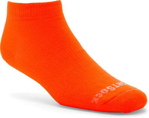 WrightSock Coolmesh II Double Layer Sock Low Cut, Neon Orange