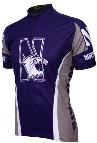 NCAA Men's Adrenaline Promotions Northwestern Wildcats Cycling Jersey