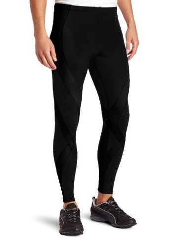 CW-X Men's Pro Running Tights, Black, X-Large