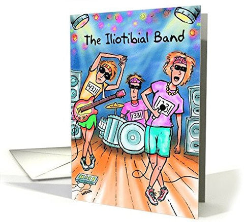 Far Gone Greetings Iliotibial Band : Funny Runners Birthday card