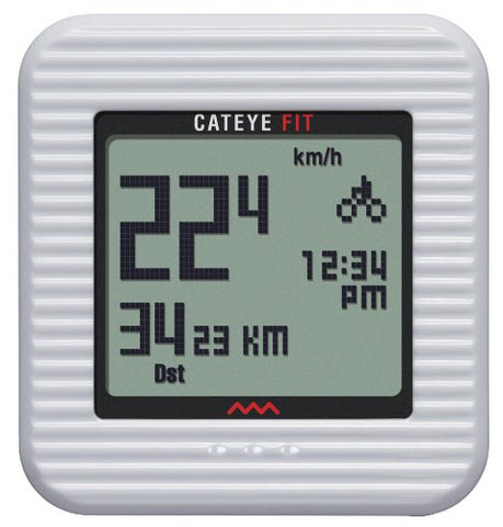 CatEye Fit Wireless Bicycle Computer/Walk Pedometer CC-PD100W (White)