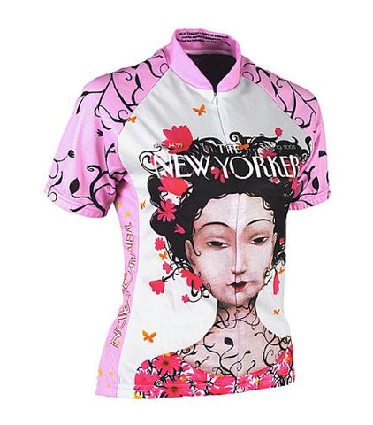 New Yorker Cherry Blossom Women's Cycling Jersey, Size: XL
