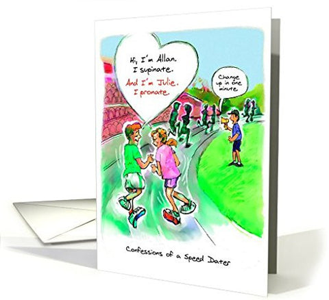 Far Gone Greetings Speed Dating : Running Romance card