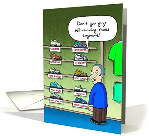 Far Gone Greetings Running Store : Runner's Birthday card