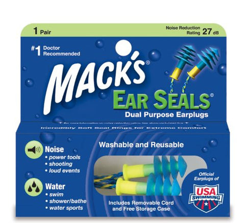 Mack's Ear Seals - Dual Purpose Earplugs (with detachable cord)