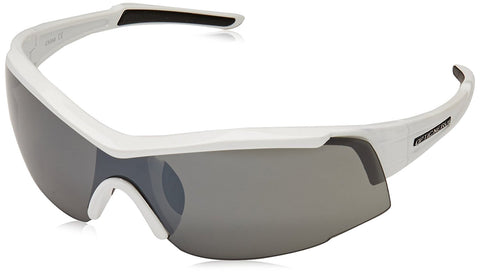 Optic Nerve Eyres Sunglasses, 2 Sets (Shiny White, Smoke/Copper)
