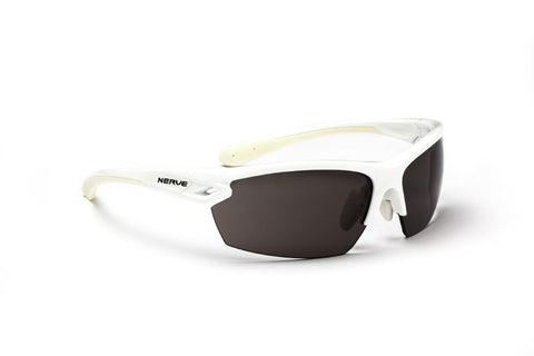 Optic Nerve Voodoo Sunglasses, Shiny White, Polarized Smoke Lens