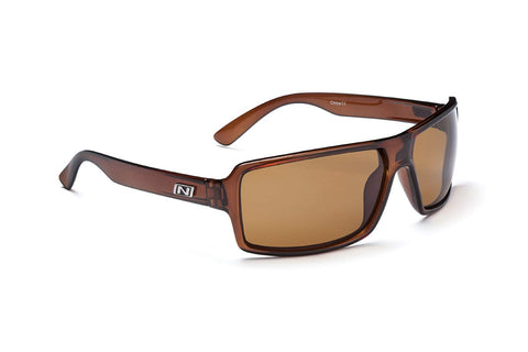 Optic Nerve Emergo Sunglasses, Shiny Brown, Polarized Brown