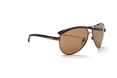 New Balance Sun NB 353-2 Sunglasses, Shiny Dark Brown with Black, Polarized Brown with Silver Flash Mirror