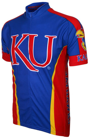NCAA Men's Adrenaline Promotions Kansas University Jayhawks Road Cycling Jersey