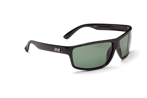 Optic Nerve Ago Vita Sunglasses, Shiny Black, Polarized Grey
