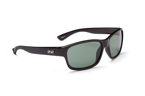 Optic Nerve Koger Sunglasses, Shiny Black, Polarized Grey