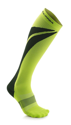 Altra Maximum 1.0 Light Anatomical Compression Socks, Lime/Black
