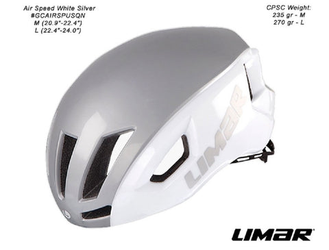 Limar Air Speed Helmet (White Silver)