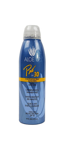 Aloe Up Sun & Skin Care Products Pro Series SPF 30 Continuous Sunscreen Spray