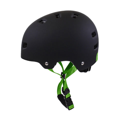 HT-100/103 Bucket Kids Helmet (Matte Black/Green)
