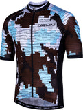 CROSS 2.0 MTB Men's Short Sleeve Cycling Jersey (Brown/Blue)