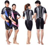 Men's and Women's 3 Reactor 3 mm Back Zip Neoprene Shorty Triathlon Wetsuit