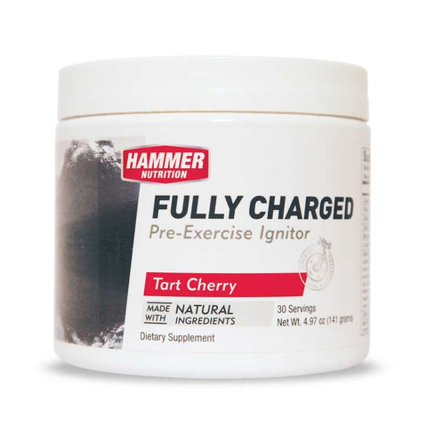 Hammer Nutrition FULLY CHARGED Pre-Exercise Ignitor, Tart Cherry (30 Servings Canister)