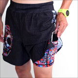 INKnBURN Men's 2019 Run or Die Running Shorts