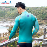 Men's Long Sleeve Swim Surfing Rashguard (UPF 50+)