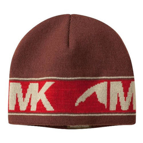 Mountain Khakis Men's Knit Stripe Logo Beanie, Brown, One Size