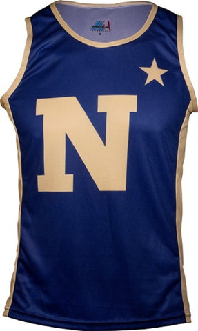 NCAA Men's Navy Midshipmen RUN/TRI Singlet