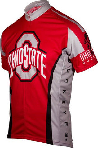 NCAA Men's Adrenaline Promotions Ohio State Buckeyes Cycling Jersey