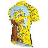Brainstorm Gear Men's Sesame Street Big Bird & Snuffy Cycling Jersey