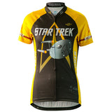 "Brainstorm Gear Women's Star Trek ""Command"" - Gold - Cycling Jersey"