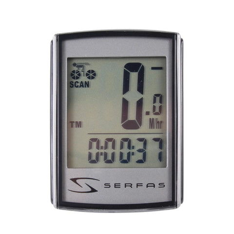 Serfas Level 4+ 19-Function Backlit Wireless Speed Cycling Computer - Si-45