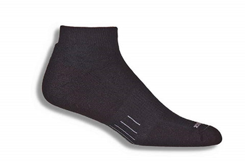 Wrightsock Double Layer Fuel Low Quarter Socks (Black)