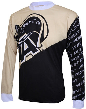 NCAA Men's Adrenaline Promotions Army Black Knights Long Sleeve Mountain Cycling Jersey