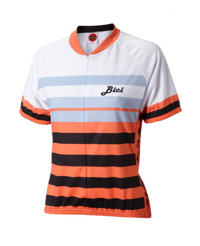 World Jerseys Women's Formaggio Bici Cycling Jersey Coral