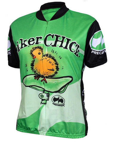 Biker Chick Cycling Jersey, Lime