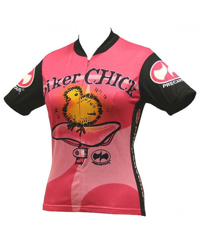Biker Chick Cycling Jersey - Pink