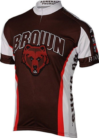 NCAA Men's Adrenaline Promotions Brown University Bears Road Cycling Jersey